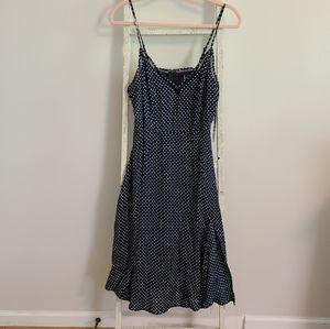 Lulus♡ NWT Polka Dot midi dress with side slit
